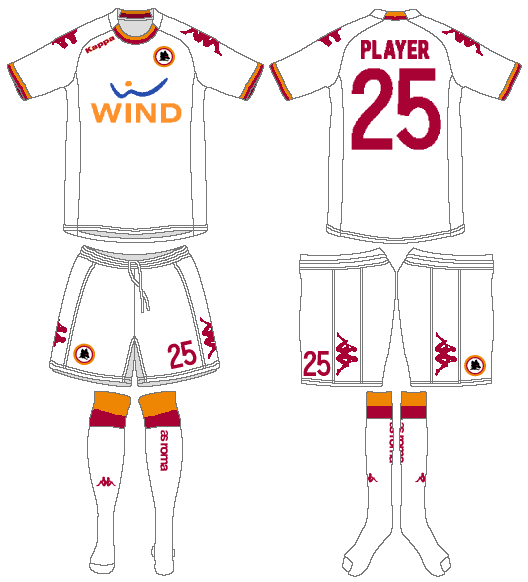 AS Roma Uniform Road Uniform (2012-2013) -  SportsLogos.Net