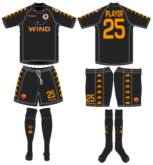 AS Roma Uniform Alternate Uniform (2008-2009) -  SportsLogos.Net