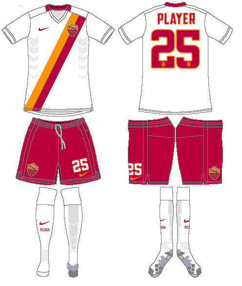 AS Roma Uniform Road Uniform (2014-2015) -  SportsLogos.Net