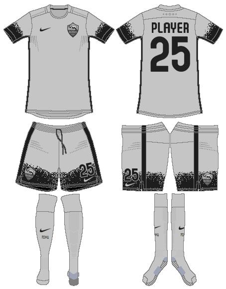 AS Roma Uniform Alternate Uniform (2015-2016) -  SportsLogos.Net