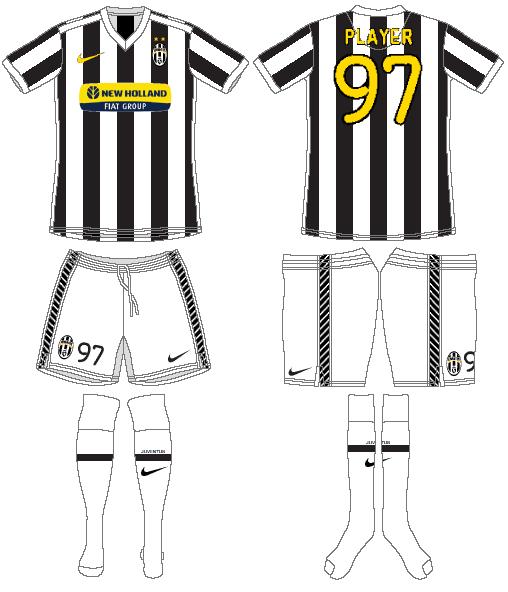 Juventus Uniform Home Uniform (2009-2010) -  SportsLogos.Net
