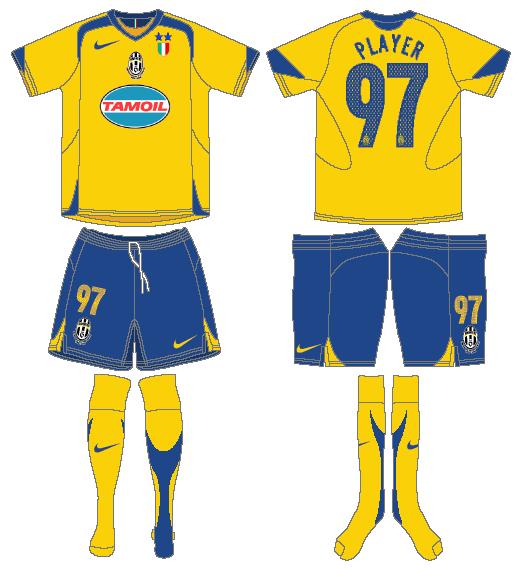Juventus Uniform Alternate Uniform (2005-2006) -  SportsLogos.Net