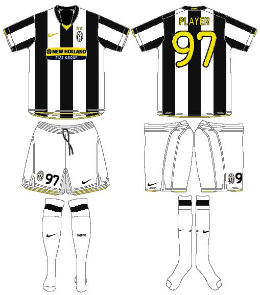 Juventus Uniform Home Uniform (2008-2009) -  SportsLogos.Net