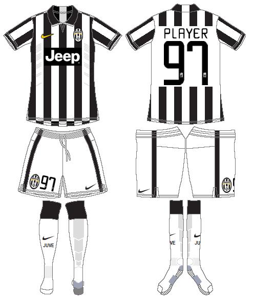 Juventus Uniform Home Uniform (2014-2015) -  SportsLogos.Net