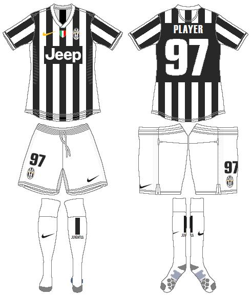 Juventus Uniform Home Uniform (2013-2014) -  SportsLogos.Net