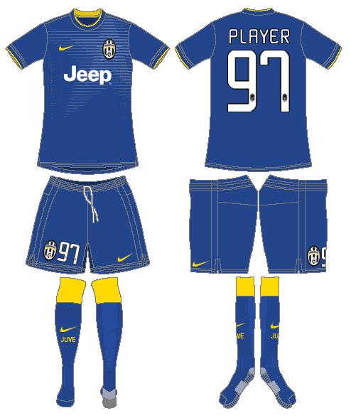 Juventus Uniform Road Uniform (2014-2015) -  SportsLogos.Net