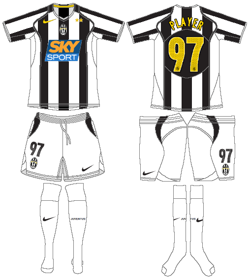 Juventus Uniform Home Uniform (2004-2005) -  SportsLogos.Net