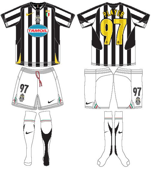 Juventus Uniform Home Uniform (2005-2006) -  SportsLogos.Net