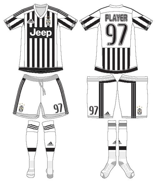 Juventus Uniform Home Uniform (2015-2016) -  SportsLogos.Net