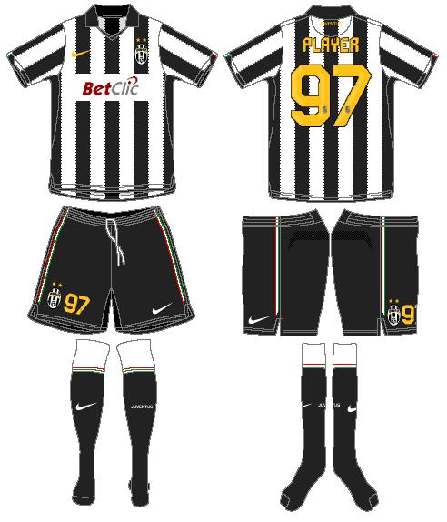 Juventus Uniform Home Uniform (2010-2011) -  SportsLogos.Net