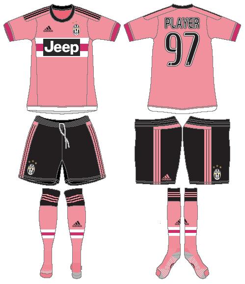 Juventus Uniform Road Uniform (2015-2016) -  SportsLogos.Net