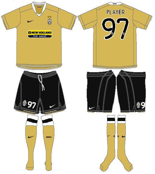 Juventus Uniform Road Uniform (2008-2009) -  SportsLogos.Net