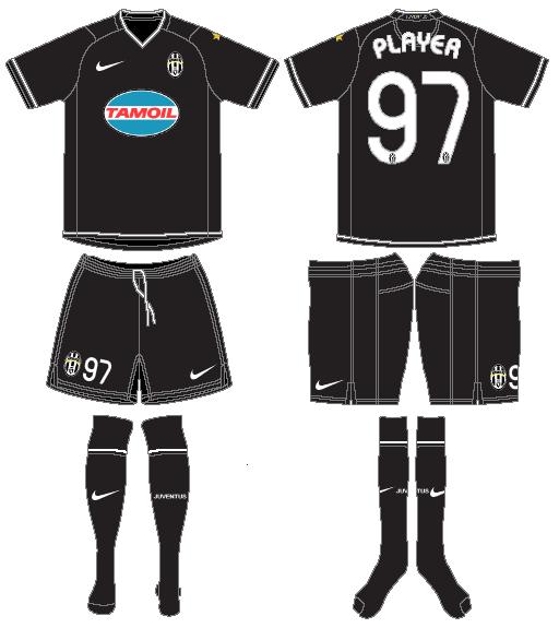 Juventus Uniform Road Uniform (2006-2007) -  SportsLogos.Net
