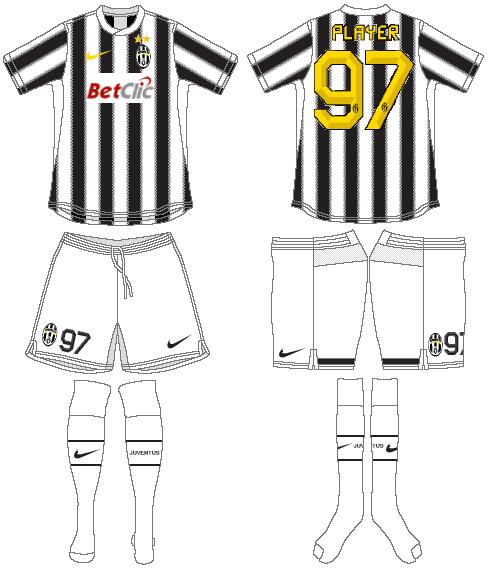 Juventus Uniform Home Uniform (2011-2012) -  SportsLogos.Net