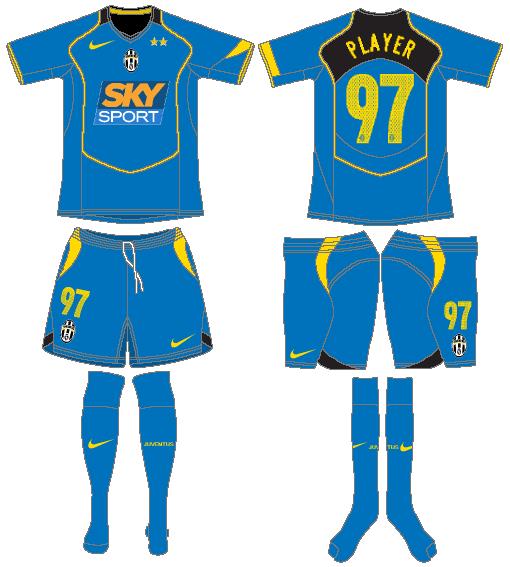 Juventus Uniform Alternate Uniform (2004-2005) -  SportsLogos.Net