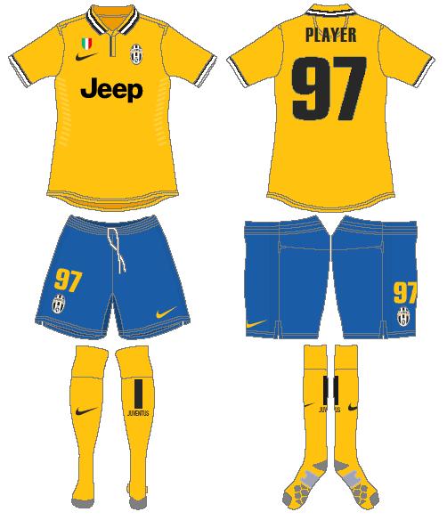 Juventus Uniform Road Uniform (2013-2014) -  SportsLogos.Net