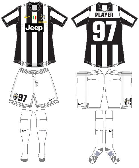 Juventus Uniform Home Uniform (2012-2013) -  SportsLogos.Net