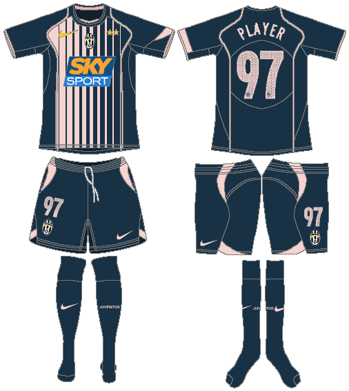 Juventus Uniform Road Uniform (2004-2005) -  SportsLogos.Net