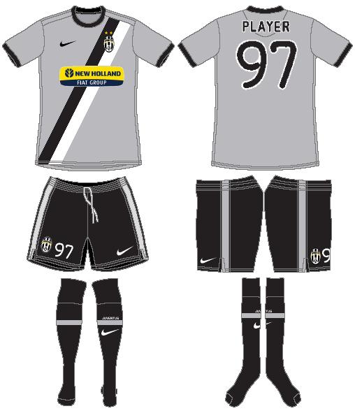 Juventus Uniform Road Uniform (2009-2010) -  SportsLogos.Net
