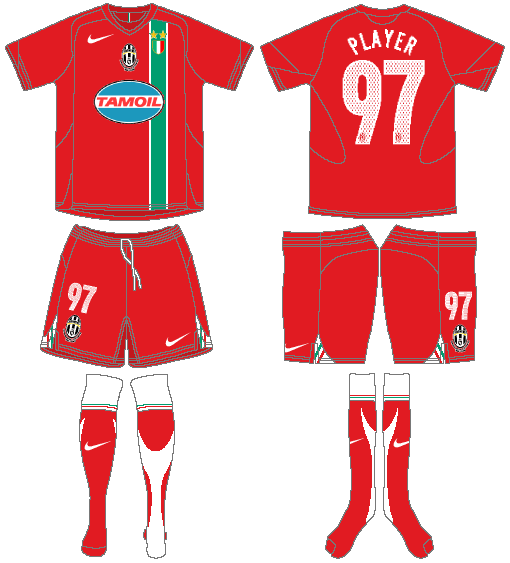 Juventus Uniform Road Uniform (2005-2006) -  SportsLogos.Net