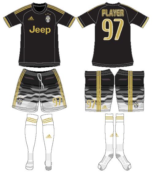 Juventus Uniform Alternate Uniform (2015-2016) -  SportsLogos.Net