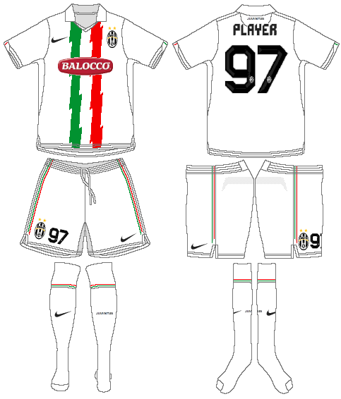 Juventus Uniform Road Uniform (2010-2011) -  SportsLogos.Net