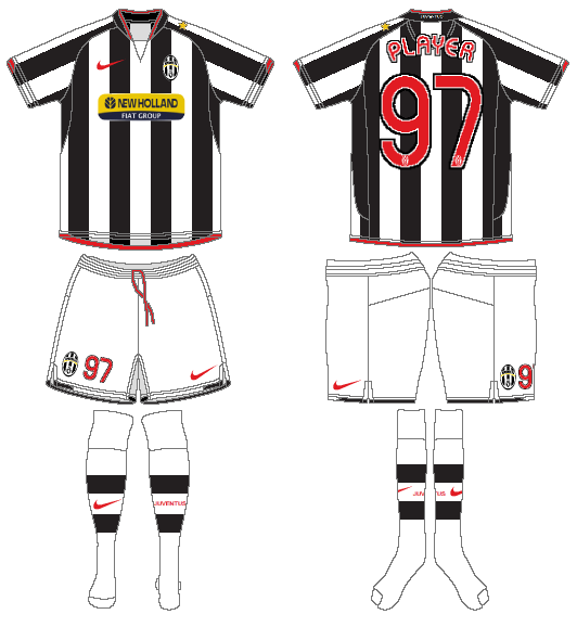 Juventus Uniform Home Uniform (2007-2008) -  SportsLogos.Net