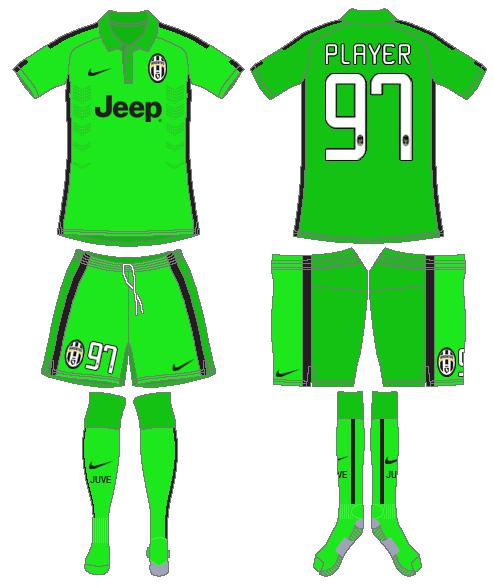 Juventus Uniform Alternate Uniform (2014-2015) -  SportsLogos.Net