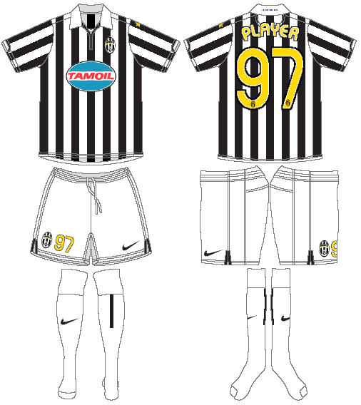 Juventus Uniform Home Uniform (2006-2007) -  SportsLogos.Net