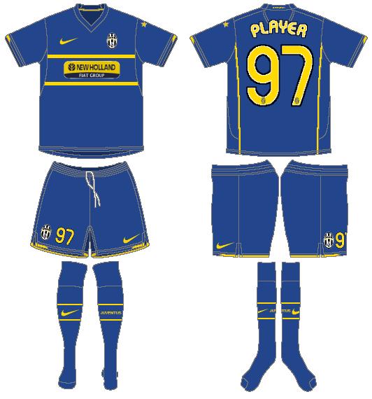 Juventus Uniform Road Uniform (2007-2008) -  SportsLogos.Net