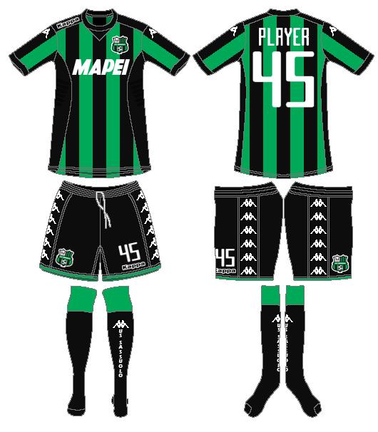 Sassuolo Uniform Home Uniform (2015-2016) -  SportsLogos.Net