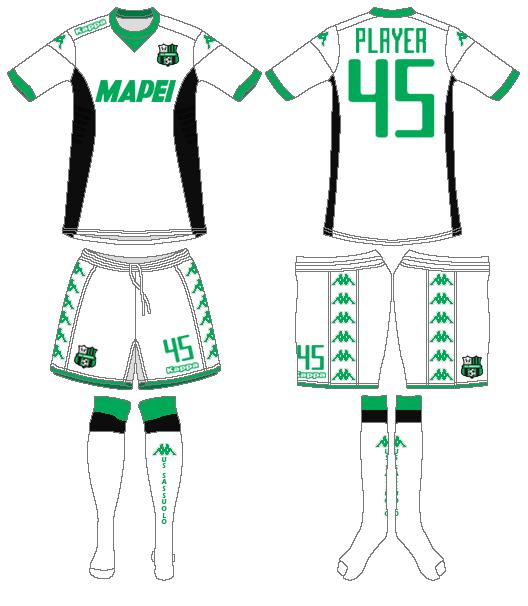 Sassuolo Uniform Road Uniform (2015-2016) -  SportsLogos.Net