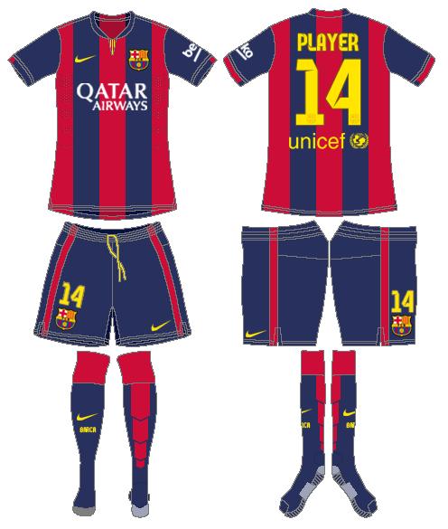 FC Barcelona Home Uniform - Spanish La Liga (Spanish La Liga ... 6d6801e62