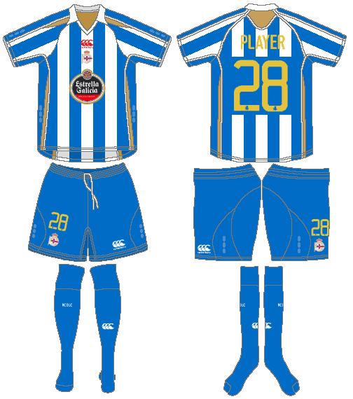 Deportivo La Coruna Uniform Home Uniform (2008-2009) -  SportsLogos.Net