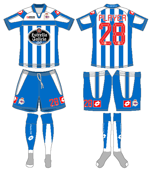Deportivo La Coruna Uniform Home Uniform (2012-2013) -  SportsLogos.Net