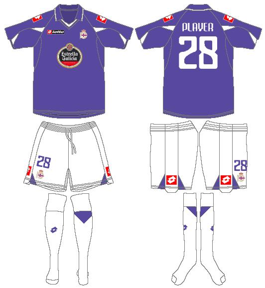 Deportivo La Coruna Uniform Road Uniform (2010-2011) -  SportsLogos.Net