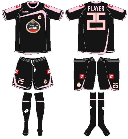 Deportivo La Coruna Uniform Road Uniform (2009-2010) -  SportsLogos.Net