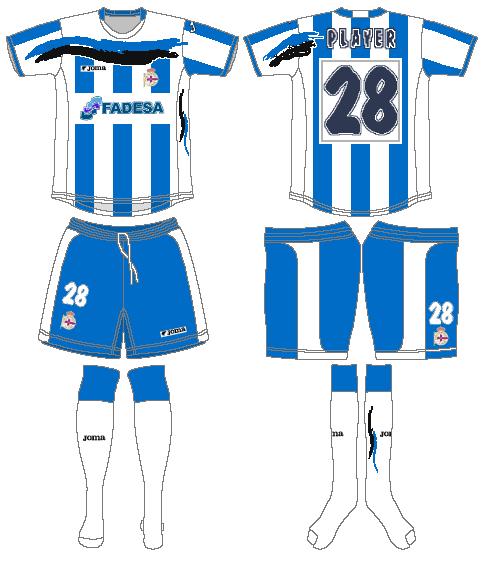 Deportivo La Coruna Uniform Home Uniform (2006-2007) -  SportsLogos.Net