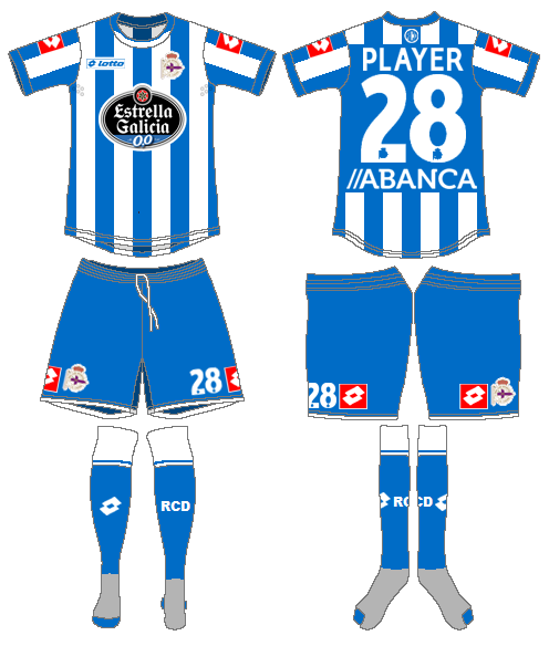 Deportivo La Coruna Uniform Home Uniform (2015-2016) -  SportsLogos.Net