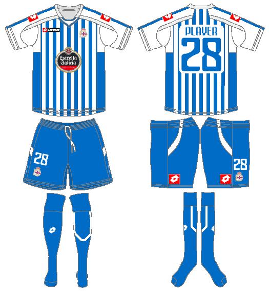 Deportivo La Coruna Uniform Home Uniform (2010-2011) -  SportsLogos.Net