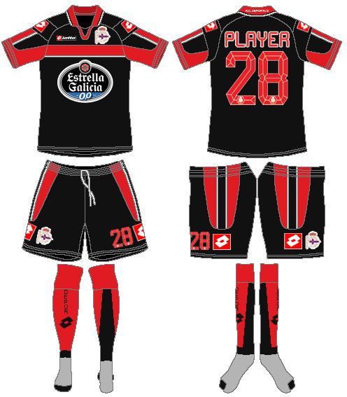 Deportivo La Coruna Uniform Road Uniform (2012-2013) -  SportsLogos.Net