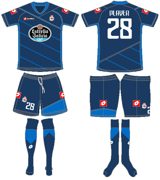 Deportivo La Coruna Uniform Alternate Uniform (2011-2012) -  SportsLogos.Net