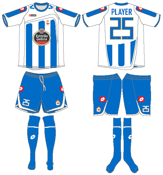 Deportivo La Coruna Uniform Home Uniform (2009-2010) -  SportsLogos.Net