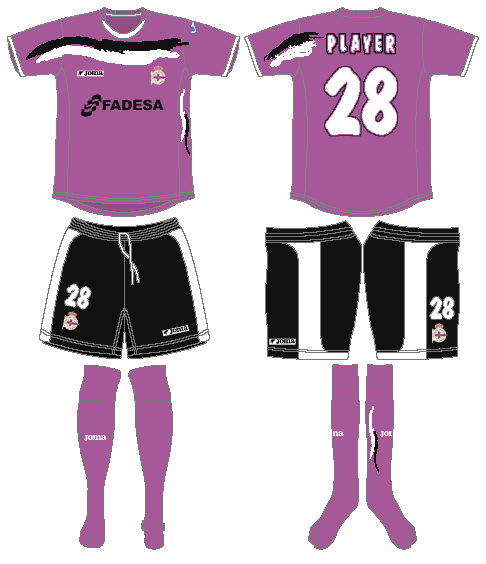 Deportivo La Coruna Uniform Alternate Uniform (2006-2007) -  SportsLogos.Net