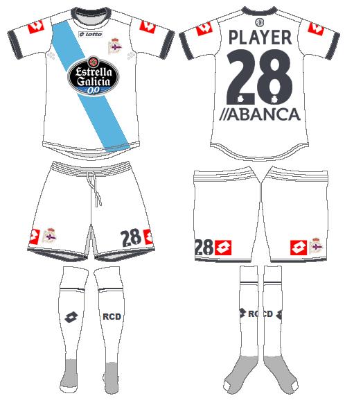 Deportivo La Coruna Uniform Road Uniform (2014-2015) -  SportsLogos.Net