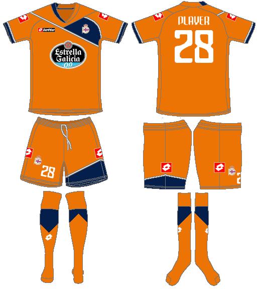 Deportivo La Coruna Uniform Road Uniform (2011-2012) -  SportsLogos.Net