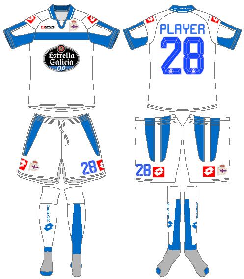 Deportivo La Coruna Uniform Alternate Uniform (2012-2013) -  SportsLogos.Net