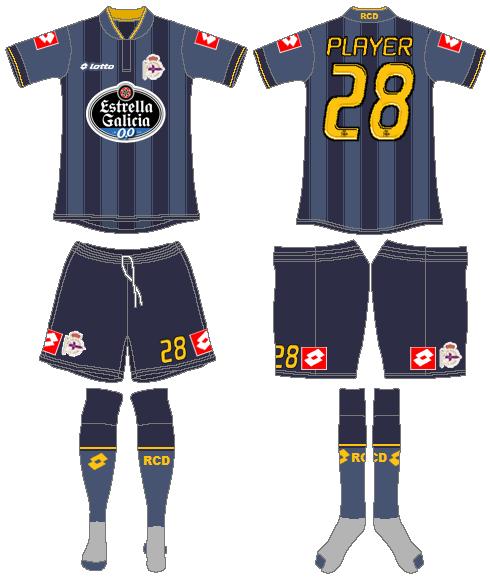 Deportivo La Coruna Uniform Road Uniform (2013-2014) -  SportsLogos.Net
