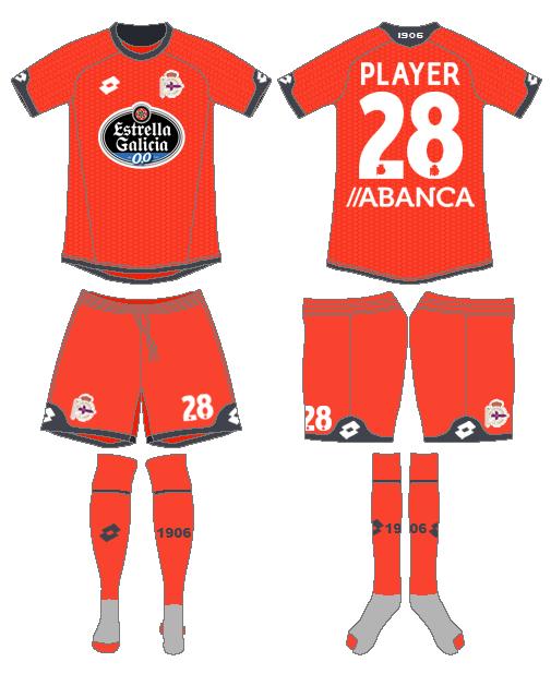 Deportivo La Coruna Uniform Alternate Uniform (2015-2016) -  SportsLogos.Net