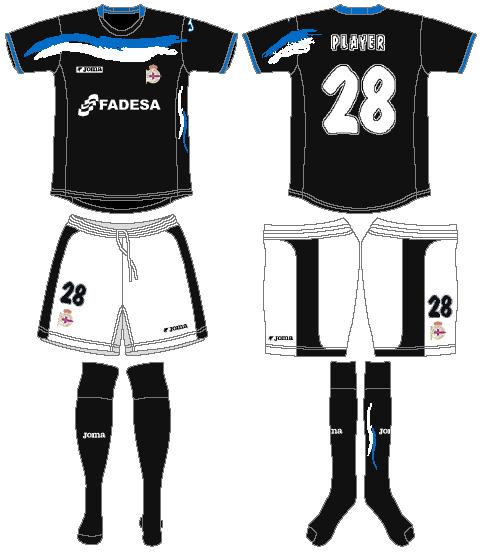 Deportivo La Coruna Uniform Road Uniform (2006-2007) -  SportsLogos.Net